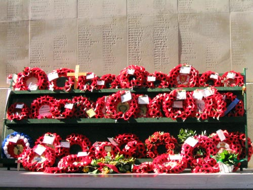 flowers for soldiers in ypres