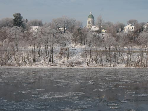 Riverside at the Kennebec River in Augusta