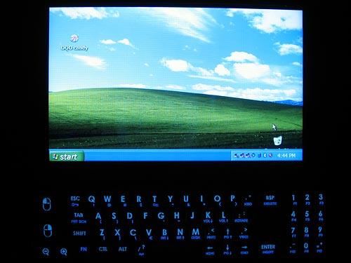 OQO 02 first boot to desktop