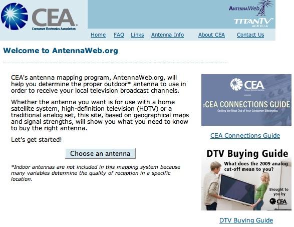 Antennaweb homepage