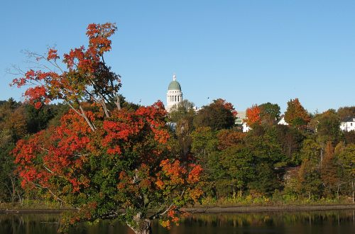 fall view of the Maine state capital