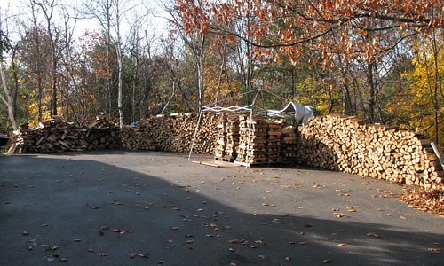wood pile overview
