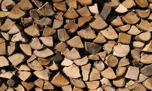 wood pile detail