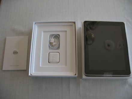 inside the iPad box