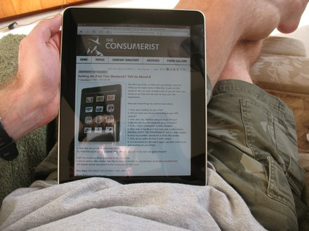 iPad couch surfing requires knee or hand
