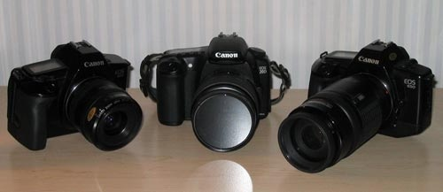 Three Canon cameras